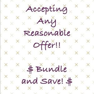 Other - Bundle&save, pay 1 shipping fee & extra discount